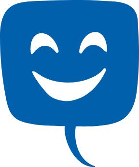 Kuvituskuva jossa on puhekupla, jonka sisällä on hymynaama.
